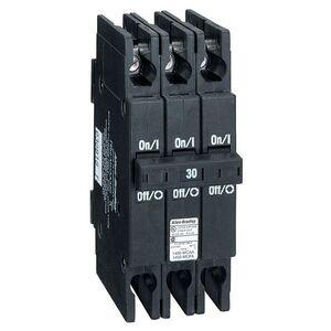 Allen-Bradley 1492-MCAA315 Breaker, 15A, 3P, 240VAC, DIN Rail Mount, 10kAIC