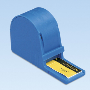 Panduit PLD-36 Label Dispenser, Polyester, 'Caution 120V'