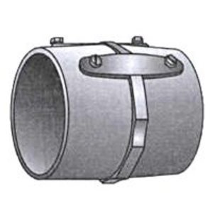 "OZ Gedney 29-250 Rigid Set Screw Coupling, 2-1/2"", Malleable, Concrete Tight"