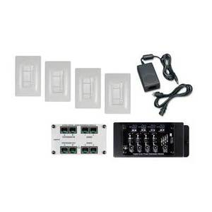 ON-Q AU7054-WH Digital Audio 4 Room Expansion Kit, White