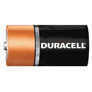 Duracell MN1300B2 Battery, 1.5V, D, Alkaline