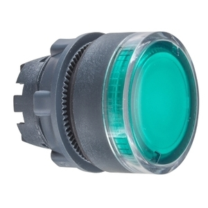 ZB5AW333  GRN ILLUMINATED P/B LED ONLY