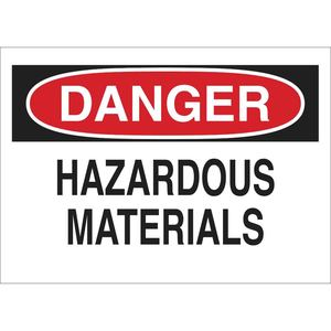 22752 CHEMICAL & HAZD MATERIALS SIGN