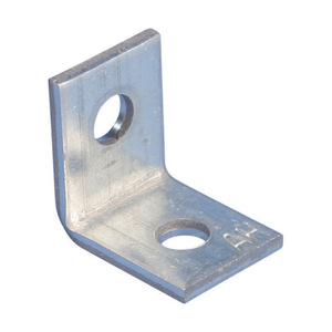 "nVent Caddy AB Angle Bracket, 2-Hole, 1/4"", Steel"
