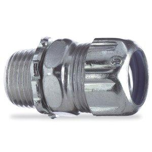 "Thomas & Betts 5234-TB Liquidtight Connector, Straight, 1"", Steel"
