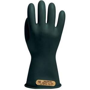 "Salisbury E0011B/9H Insulated Electrical Gloves, 11"", Class 00, Size 9H, Black"