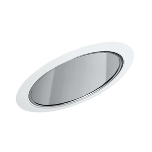 "Juno Lighting 602-CWH Slope Trim, Super Sloped, 6"", Clear Alzak Reflector/White Trim"