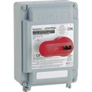 Leviton DS30-AX Safety Disconnect, 30A, 600VAC, 3P, Non-Fused, NEMA 3R, IP67 *** Discontinued ***