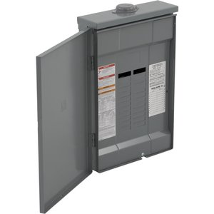 Square D QO320L125GRB Load Center, Main Lug Only, 125A, 240VAC, 3PH, 20/20, NEMA 3R, 65kA