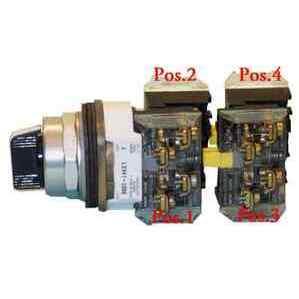 Allen-Bradley 800H-JR2KC1SPXX 30mm Selector Switch 800H PB