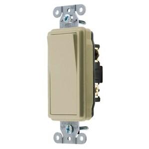 Hubbell-Kellems DS320I Decora 3-Way Switch, 20A, 120/277V, Ivory