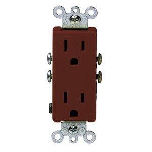 Leviton 5325 Décora Duplex Receptacle, Brown