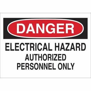 Brady 22092 BRADY 22092 ELECTRICAL HAZARD SIGN