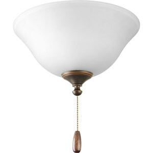 Progress Lighting P2612-20 Three-Light Ceiling Fan Light, 40W Candelabra Base