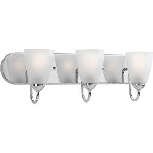 Progress Lighting P2708-15 Bath Light, 3-Light, 100W, Polished Chrome