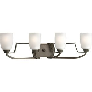 Progress Lighting P2797-20 Bath Light, 4 Light, 100W, Antique Bronze