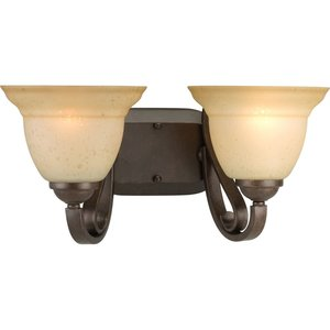 Progress Lighting P2882-77 Bath Light, 2-Light, 100W, Forged Bronze