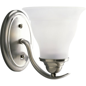 Progress Lighting P3190-09 Bath Light, 1-Light, 100W, Brushed Nickel