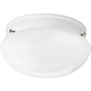 Progress Lighting P3408-30 Mushroom Fixture, 1-Light, 60W, White