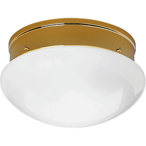 Progress Lighting P3410-10 Mushroom Fixture, 2-Light, 60W, Polished Brass