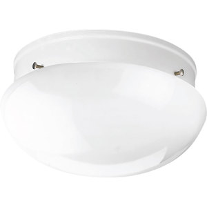 Progress Lighting P3410-30 Mushroom Fixture, 2-Light, 60W, White