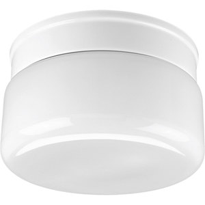 Progress Lighting P3518-30 Drum Fixture, 2-Light, 60W, White