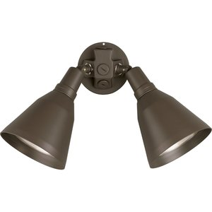 Progress Lighting P5203-20 Bell Flood Light, Incandescent, 2-Light, 150W, 120V, Antique Bronze