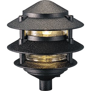 Progress Lighting P5204-31 Garden Light, 3-Tier, 1 Light, 100W, Black
