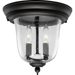 Progress Lighting P5562-31 Ceiling Light, Outdoor, 2-Light, 60W, Textured Black