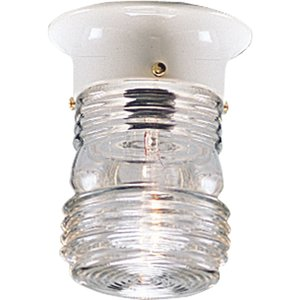 Progress Lighting P5603-30 Ceiling Lantern, Outdoor, 1-Light, 60W, White