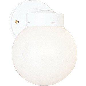 Progress Lighting P5604-30 Wall Lantern, Outdoor, 1-Light, 100W, White