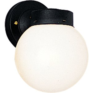 Progress Lighting P5604-31 Globe, Outdoor, 1 Light, 100W, Black