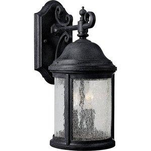 Progress Lighting P5649-31 Wall Lantern, Outdoor, 2-Light, 60W, Textured Black