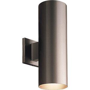 Progress Lighting P5675-20 Lantern, Outdoor, 2 Light, 75W, Antique Bronze