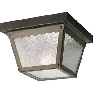Progress Lighting P5727-20 Ceiling Light, Outdoor, 1-Light, 60W, Antique Bronze