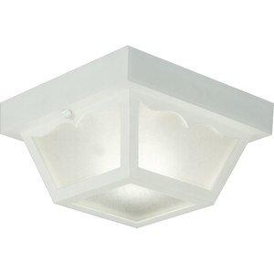 Progress Lighting P5744-30 Ceiling Light, Outdoor, 1-Light, 60W, White