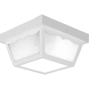 Progress Lighting P5745-30 Ceiling Light, Outdoor, 2-Light, 60W, White