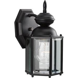 Progress Lighting P5756-31 Wall Lantern, Outdoor, 1-Light, 100W, Black