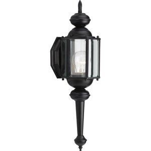Progress Lighting P5758-31 Wall Lantern, Outdoor, 1-Light, 100W, Black