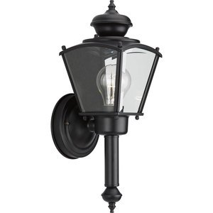 Progress Lighting P5846-31 Wall Lantern, Outdoor, 1-Light, 60W, Black