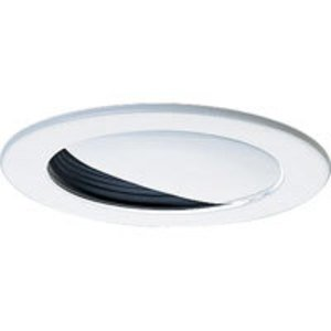 "Progress Lighting P8047-31 Wall Wash Trim, 5"", White Trim/Black Baffle"