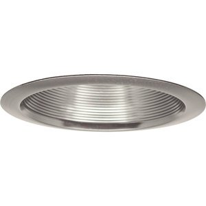 "Progress Lighting P8066-09 Baffle Trim, Step, 7-3/4"", Brushed Nickel, For insulated ceilings"