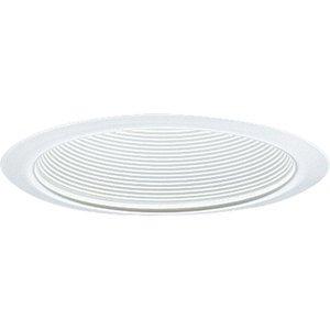 "Progress Lighting P8066-28 Step Baffle Trim, Single Vertical Lamp, 6"", White Baffle/White Trim"