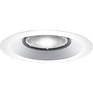 "Progress Lighting P8072WL-28 Lensless Shower Trim, IC/Non-IC, 6"", White"