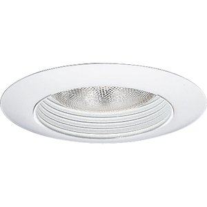 "Progress Lighting P8082-28 Baffle Trim, Step Splay, 8-3/4"", White, For insulated ceilings"