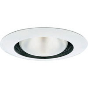 "Progress Lighting P8082-31 Baffle Trim, Step Splay, 8-3/4"", Black, For insulated ceilings"
