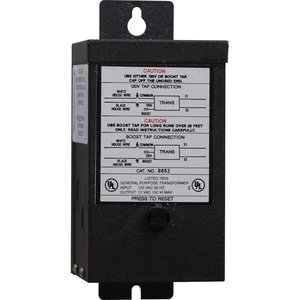 Progress Lighting P8652-31 Transformer, Remote, Hide-A-Lite, 100W, 12VDC, 120VAC, Black