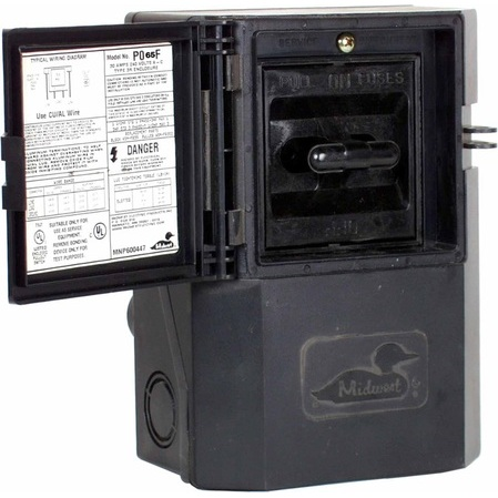 Midwest - P065F, Pullout Type - Non-Metallic, Air Conditioner Disconnects,  Safety Switches /, Power Distribution - Platt Electric SupplyPlatt Electric Supply