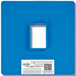 "Quickflash E-SGB-A-1-3/8 Flashing Panel, 1-Gang, Size: 11 x 11"", Blue, Non-Metallic"