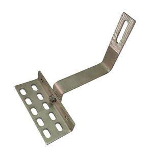 "Quickscrews International 17570 Adjustable, Side Mount, 90 Deg, Roof Hook, W/ 1/4""x3"" Screws"